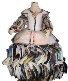 "Las Meninas  Recycled magazines 30"" (D) x 30"" (W) x 40"" (H)  NFS"