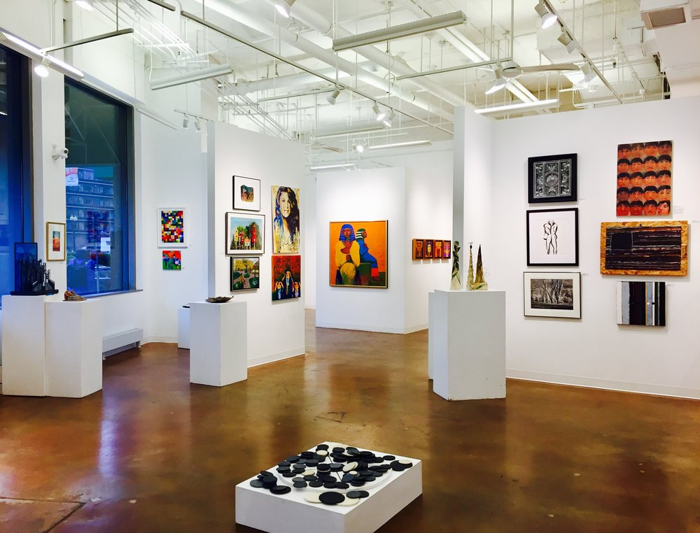 GALLERY AWhat's Next? - This exhibition presents a wide variety of artwork created by 90 local contemporary artists in all media that responds to the question