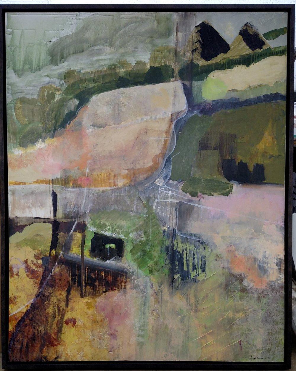 """"""" En automne, les vignes…"""" 2014 NFS   Acrylic on canvas, 60 x 48 inches"""