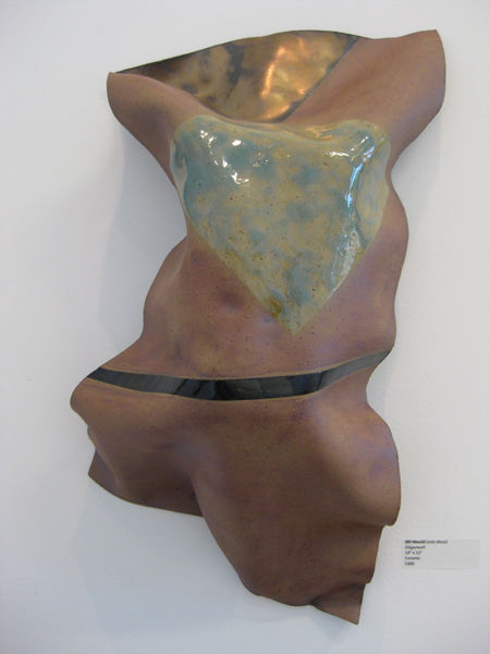 """Gilgamesh"" glazed and fired clay"