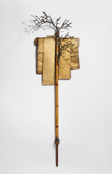 Totem with Magnolia Branches by Janet Wheeler