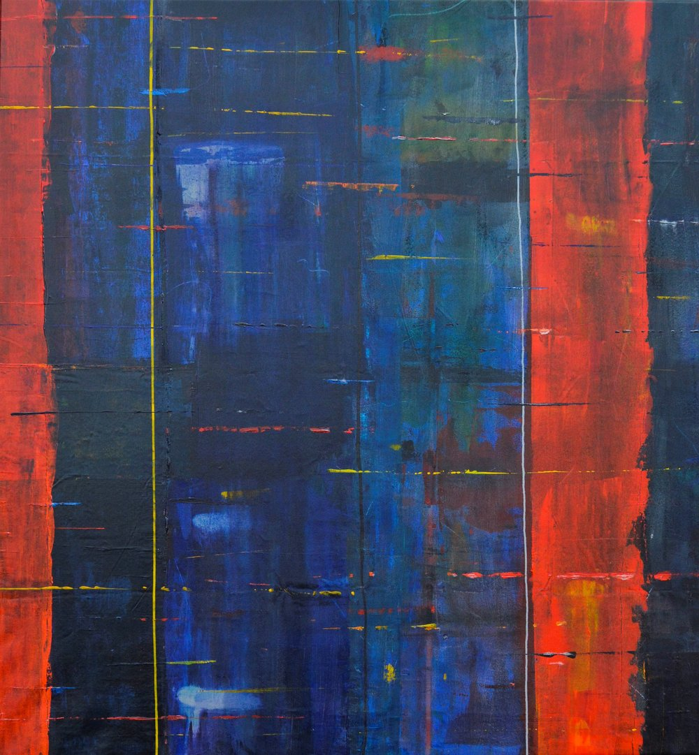 m10 acrylic on canvas 74 x 68 x 1.75 inches