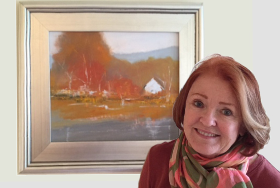 Colleen with Dunn Cove painting