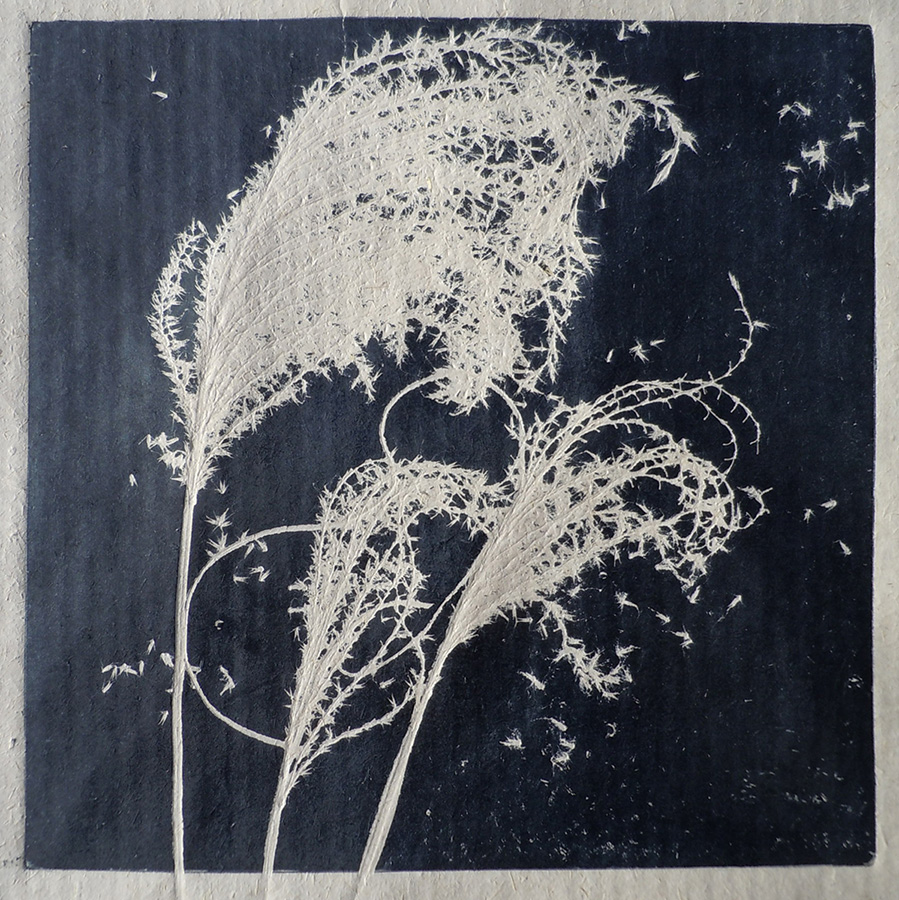 """Grasses on Bhutan Paper I"" by Mary D. Ott"
