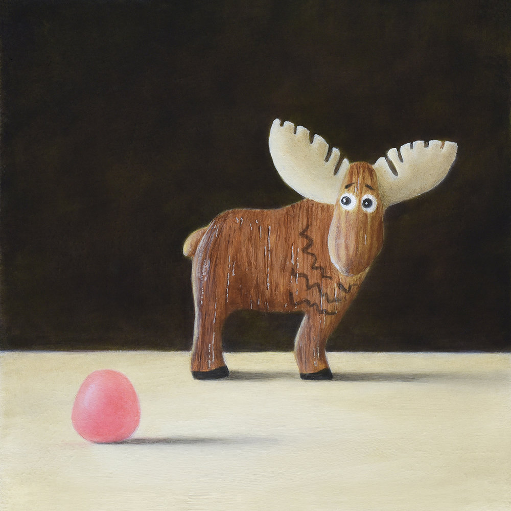 """Little Wooden Moose and Pink Candy"""