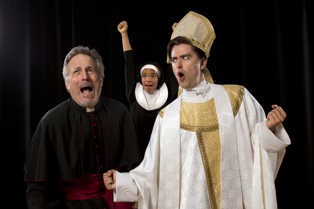 POPE! An Epic Musical: Ken Land, Britney Coleman, Sam Bolen
