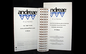 Andreae Filters    Andreae  filters are a baffle style filter designed for extended service life. They are available in standard, high capacity and high efficiency configurations.