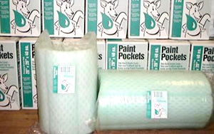 Paint Pockets    Paint Pockets  are a uniquely designed and patented filtration product that offers high efficiencies and long service life on a wide variety of coatings. For a free sample box of these filters, please  contact us .