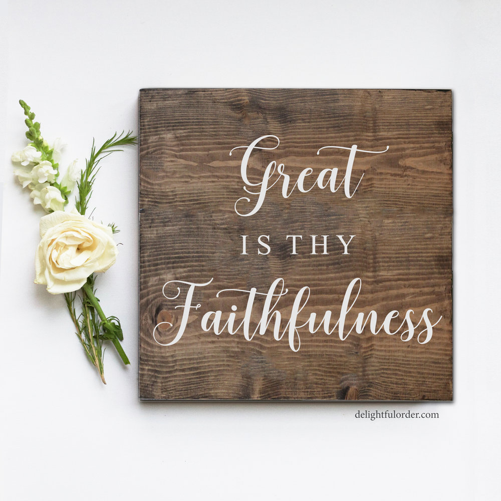 Great is thy Faithfulness (S)