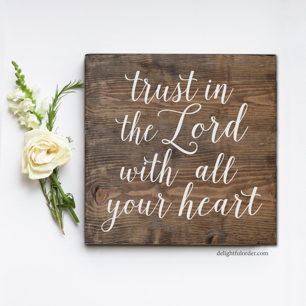 (S-6) Trust in the Lord