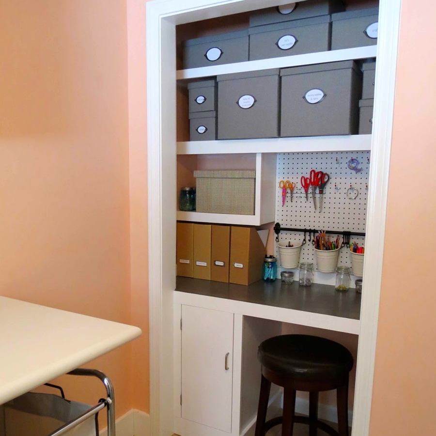 Craft Closet Before & After