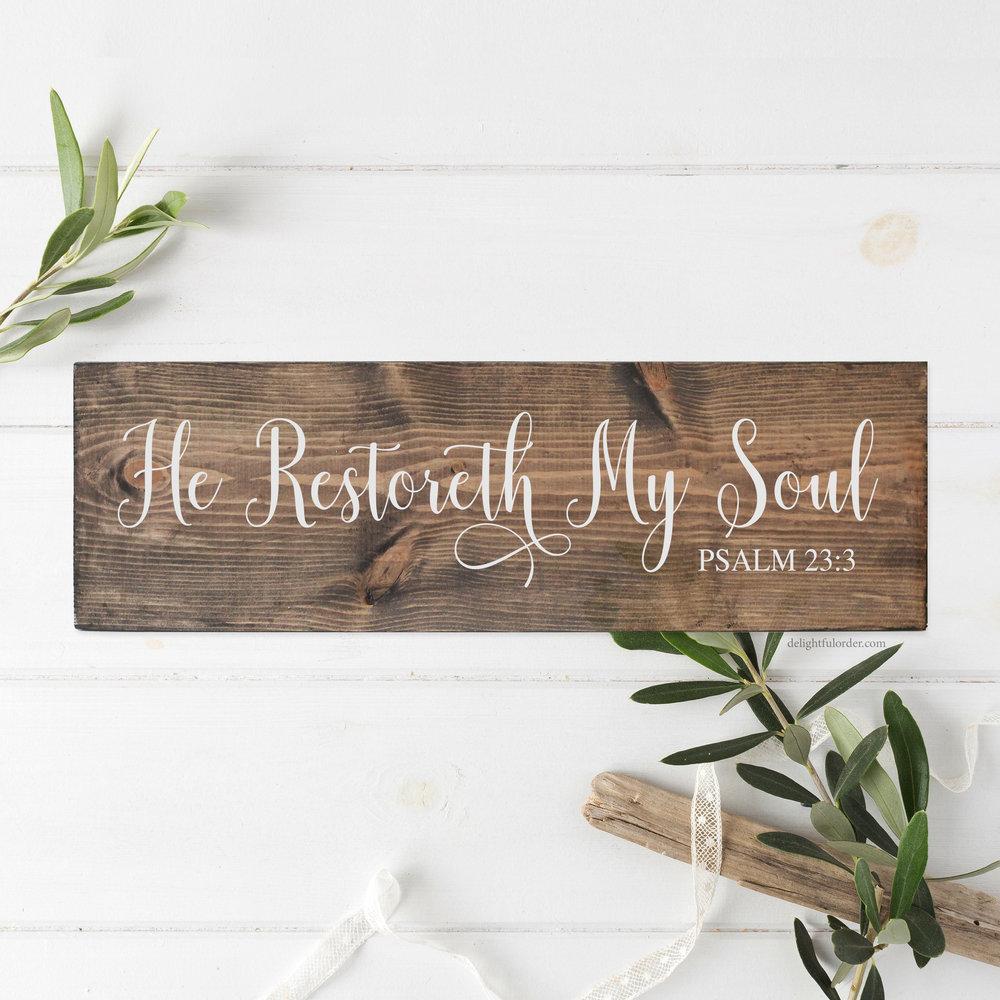 He Restoreth My Soul (R)