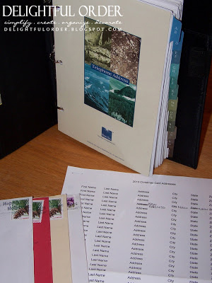 Organizing Christmas Card Addresses