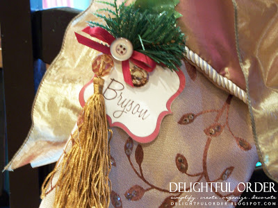 Christmas Table Setting Name Tags