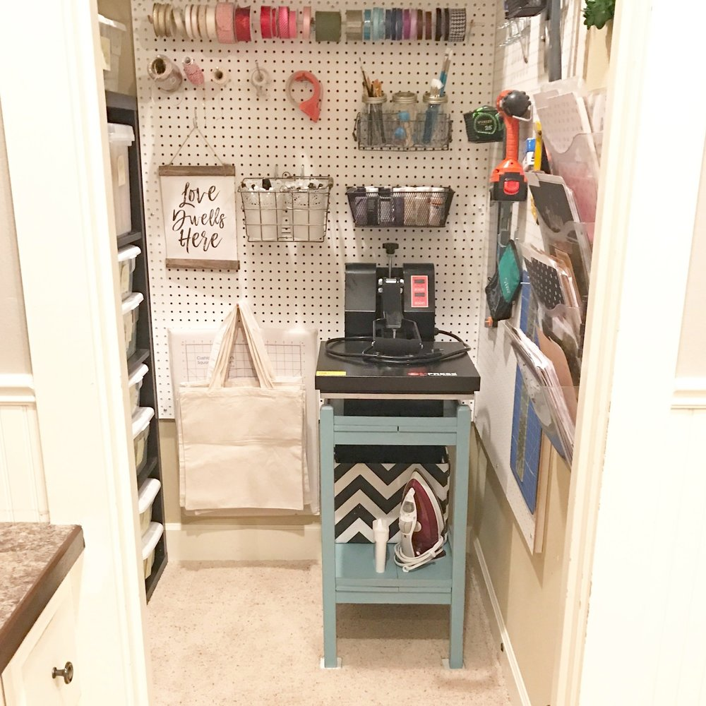 Craft Room Closet Makeover