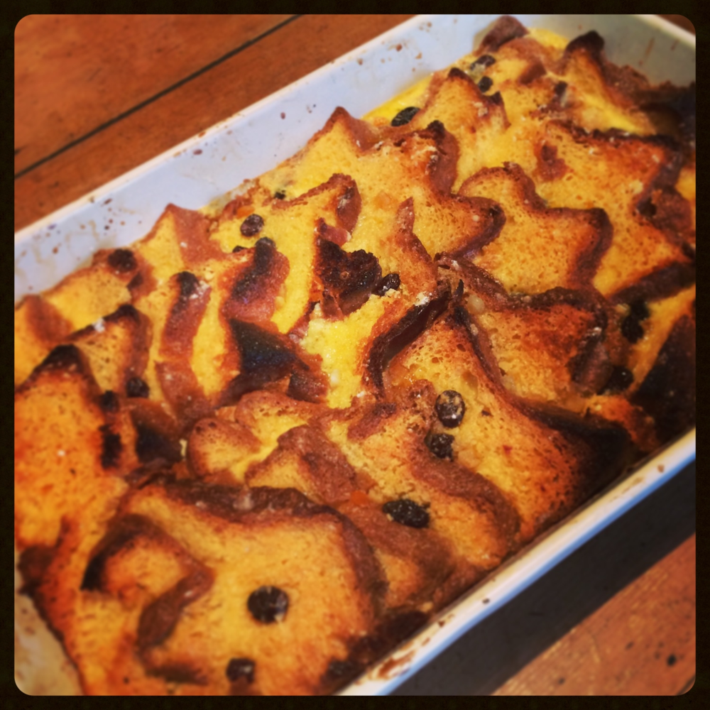 Panettone bread & butter pudding
