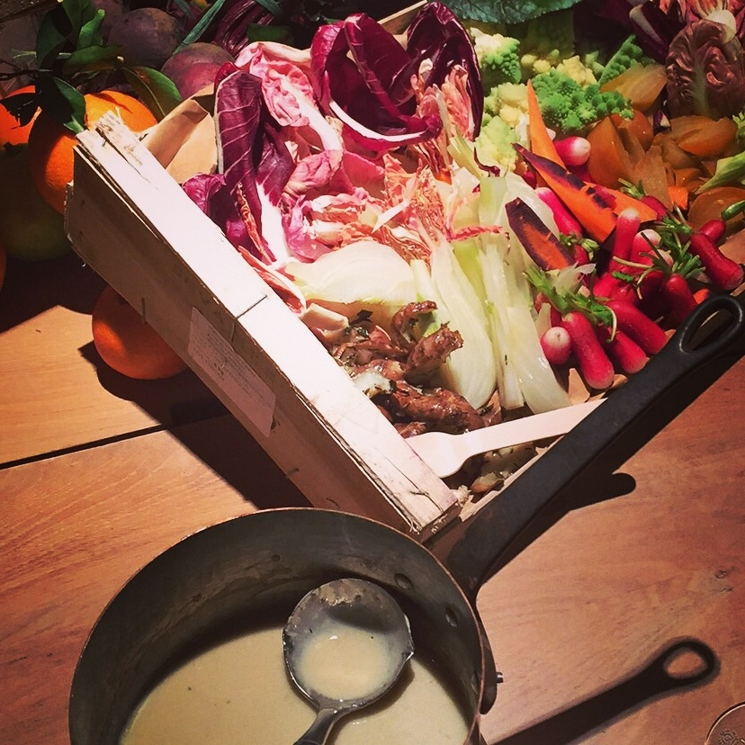 Bagna cauda with winter veg