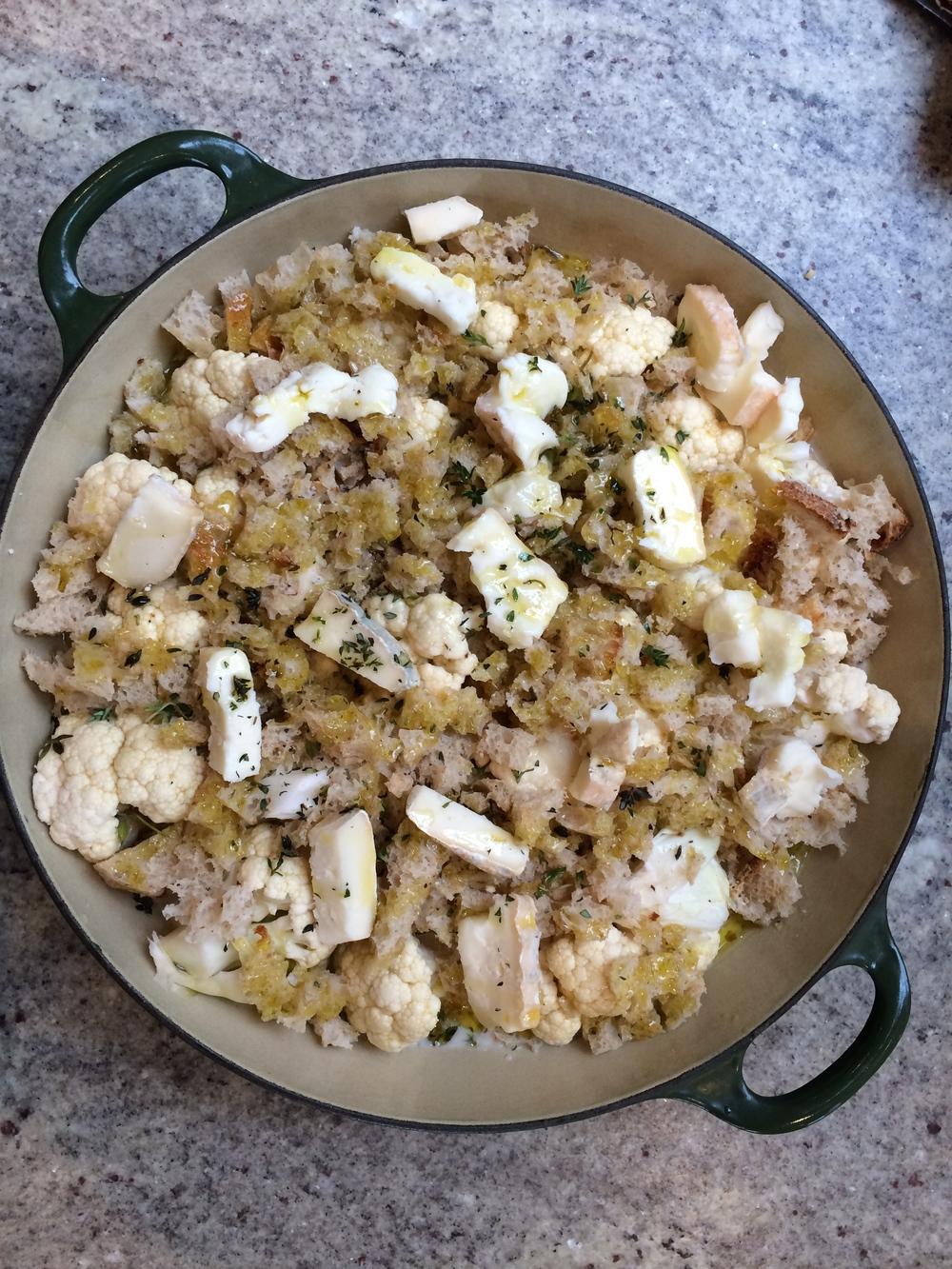 Cauliflower and Taleggio gratin
