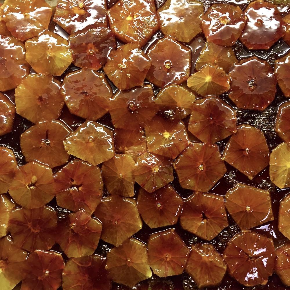 Caramel blood oranges