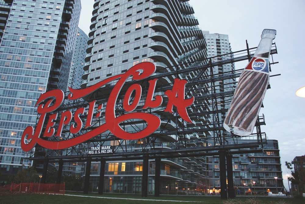 Classic Queens.This preserved Pepsi-Cola sign was originally constructed on top of a Pepsi bottling plant back in 1936 .