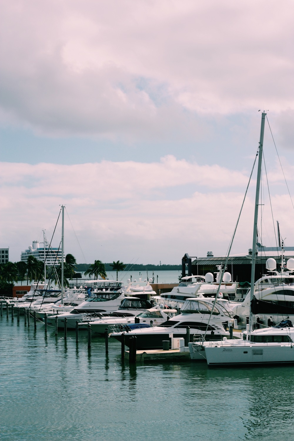 Bayside. Compared to the hustle and bustle of New York City, Miami has a playful kind of energy that is more laidback.