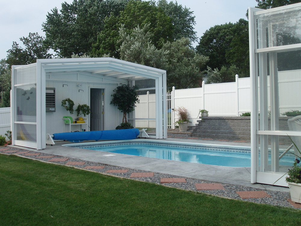 Houston 39 s finest pool enclosures Retractable swimming pool enclosures