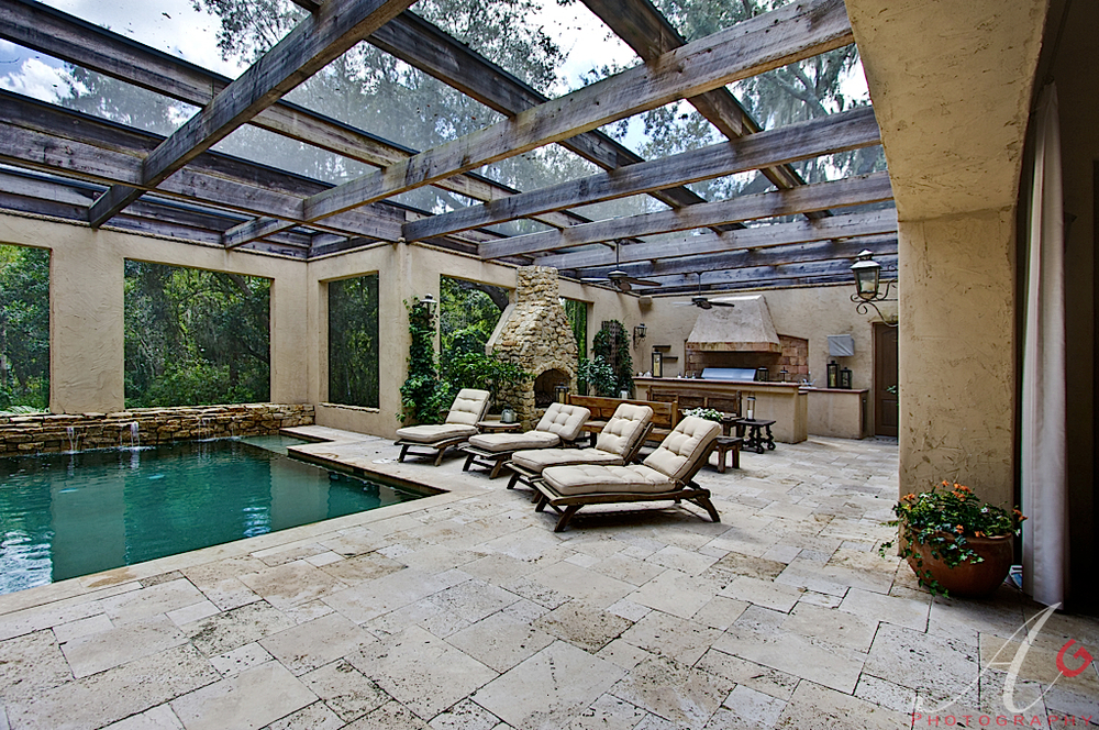 Screened in pools pool screen enclosures houston 39 s - Swimming pool screen enclosures cost ...