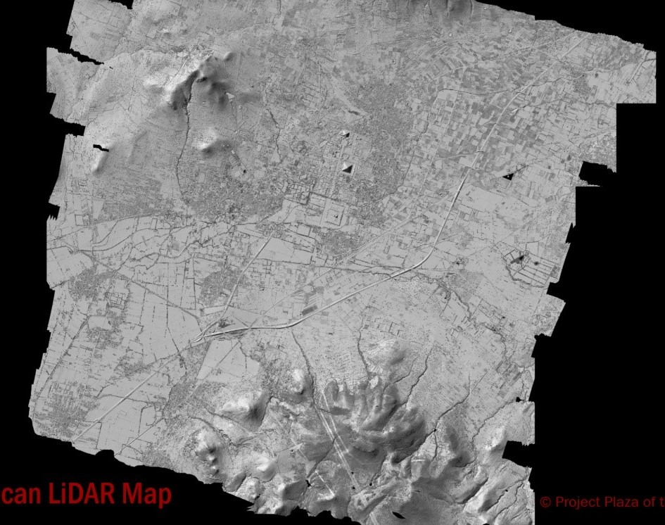 Teotihuacan LiDAR Map  Copyright: Project Plaza of the Columns Complex