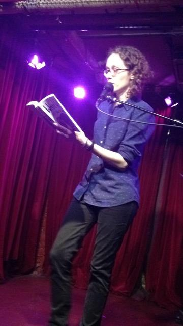 Author Meagan Brothers reads from her new novel  Weird Girl and What's His Name  at the Cornelia Street Cafe.