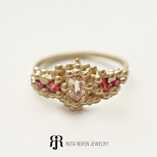 SOLO collection, 14K gold, Pink Sapphires and Rubies