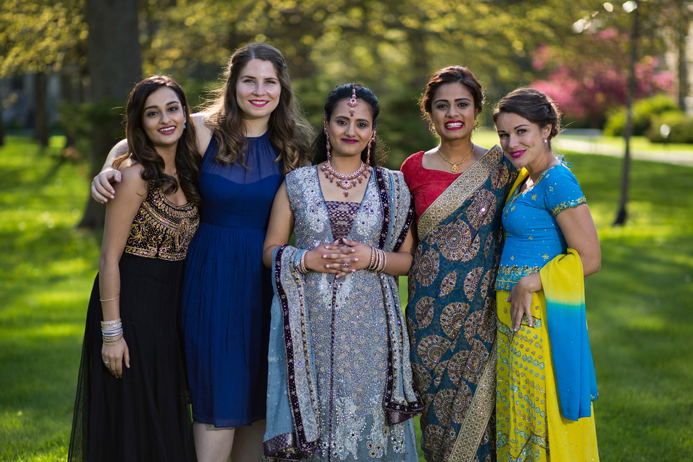 Racine, Wisconsin WI Indian Desi bridal wedding hair and makeup at The DeKoven Center
