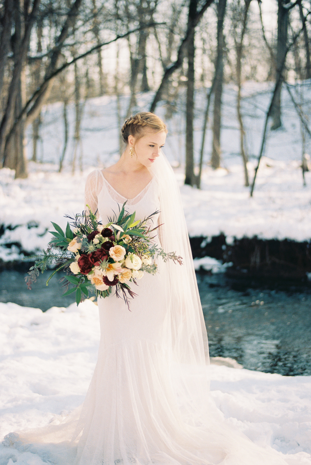 Winter bridal wedding hair and makeup Chicago, Illinois IL