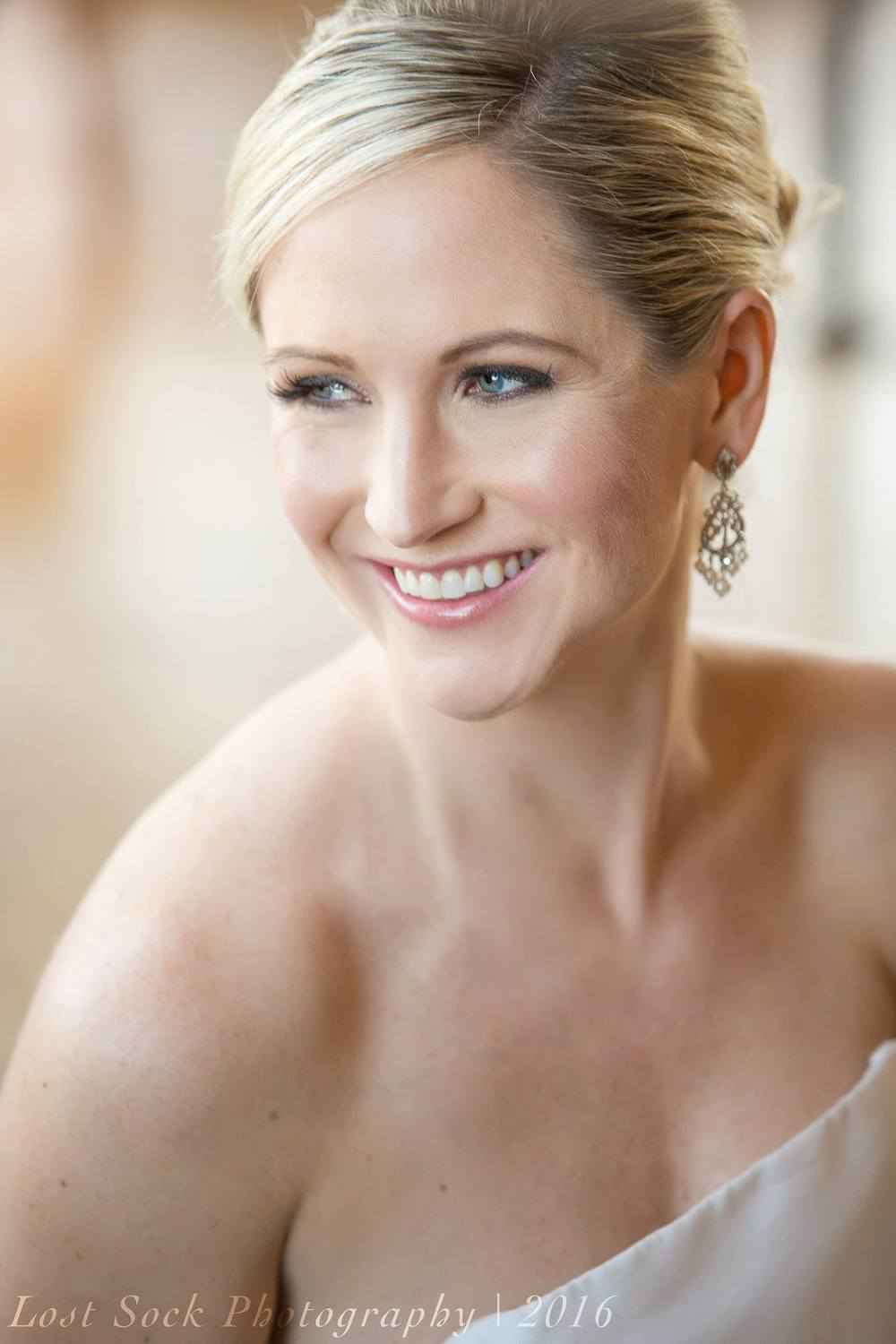 Chicago, Illinois IL classic bridal wedding updo hair and makeup at Lacuna Artist Loft