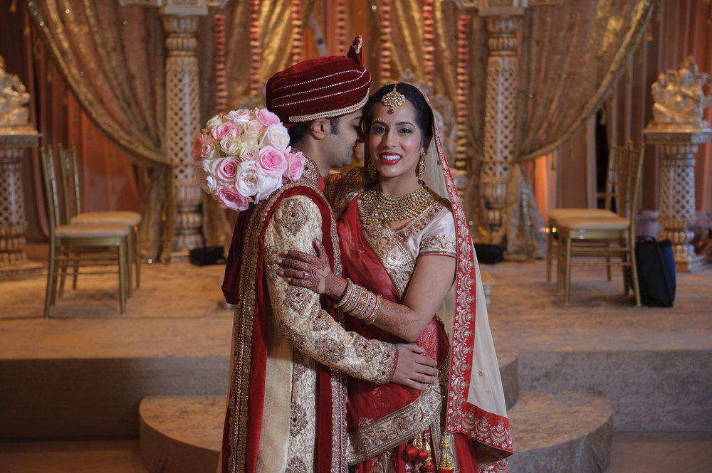 Chicago, Illinois IL Indian Desi bridal wedding hair and makeup at the Drake Hotel and Field Museum