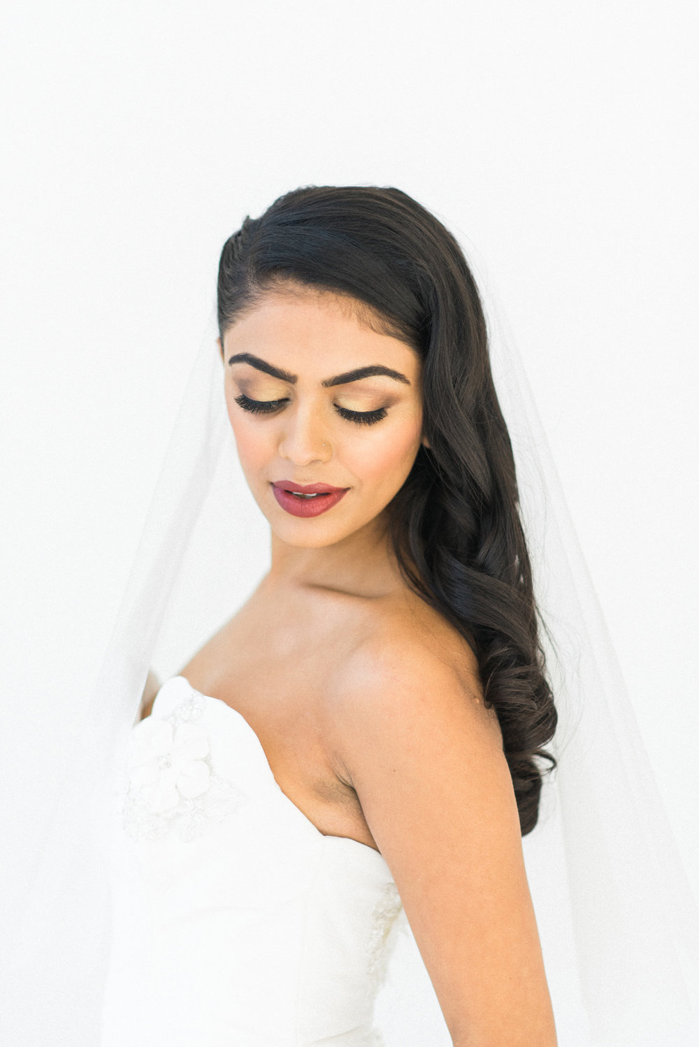 Chicago, Illinois desi Indian IL bridal wedding hair and makeup clean classic