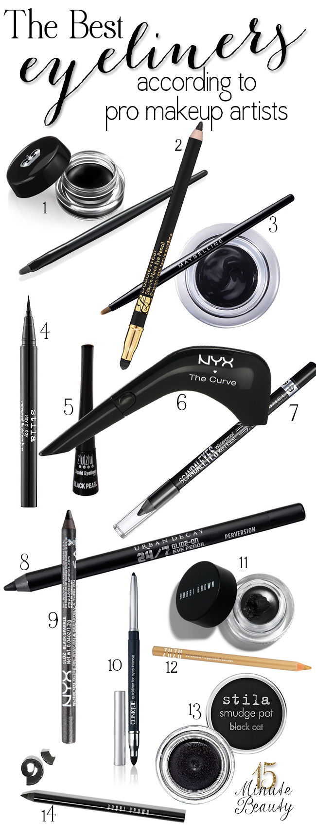15 Minute Beauty - The Best Eyeliners According to Makeup Artists