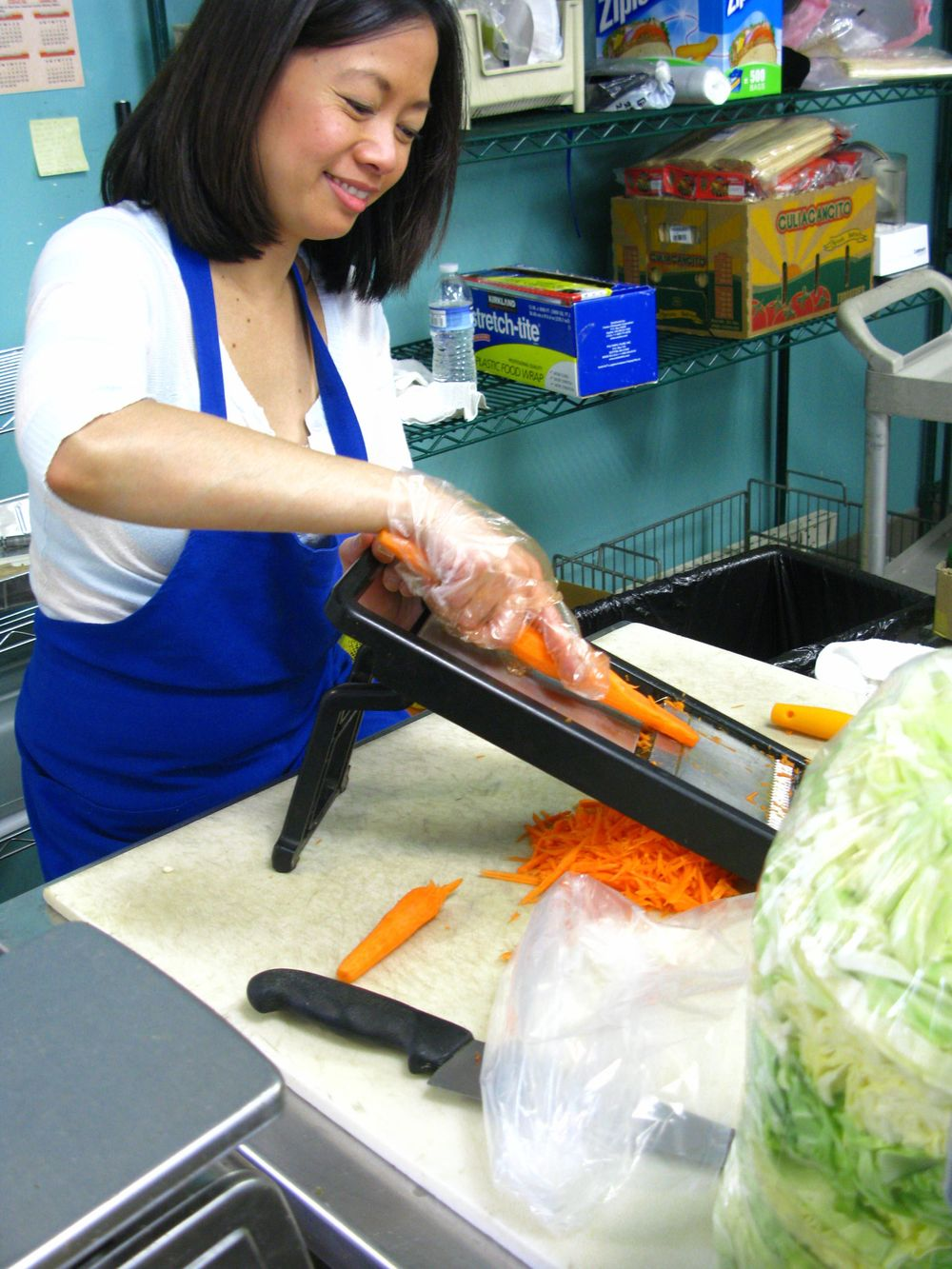 Freshly grated carrots