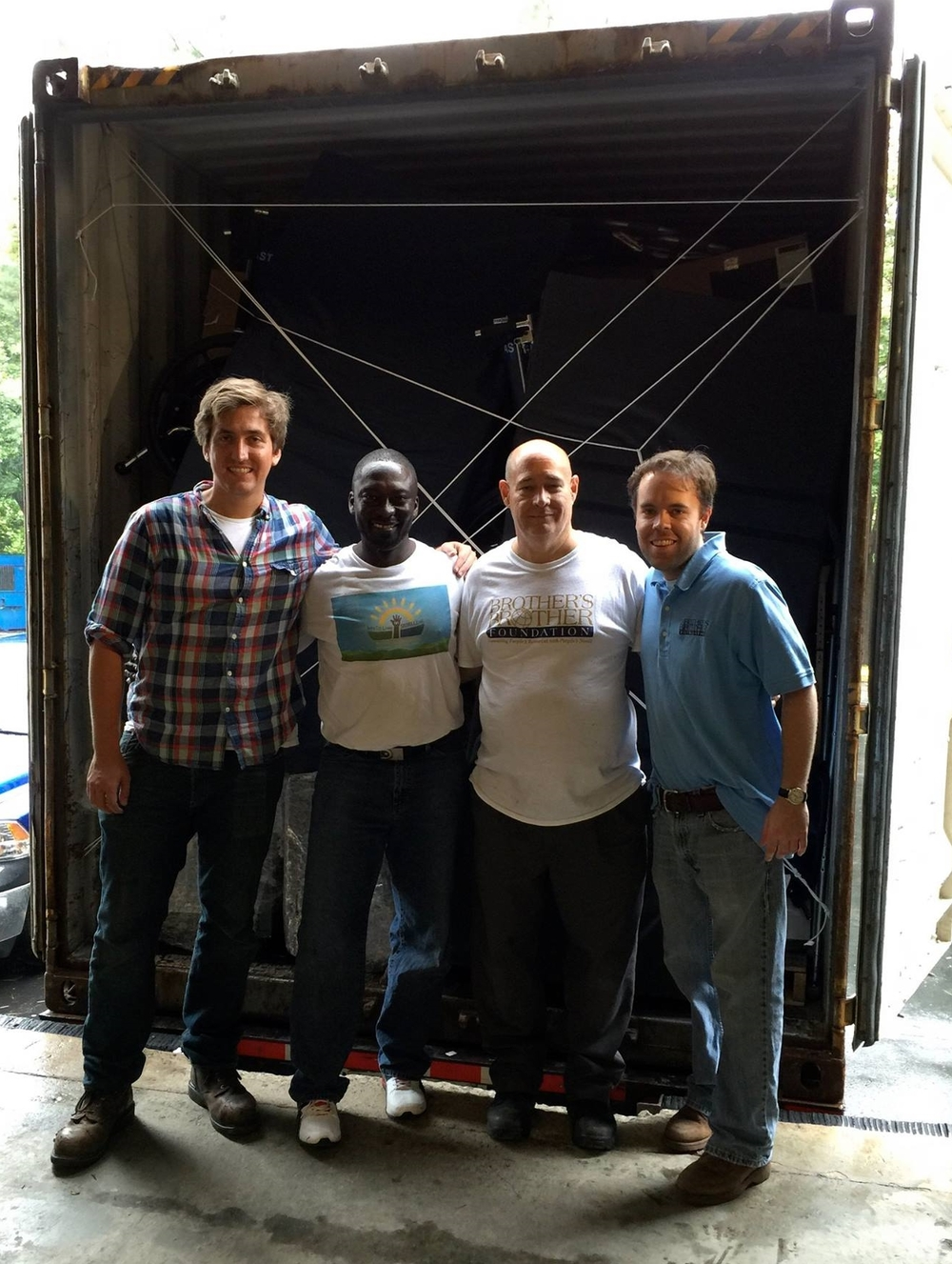 Thanks to the team at Brother's Brother Foundation for storing the equipment and helping us with loading and shipping.