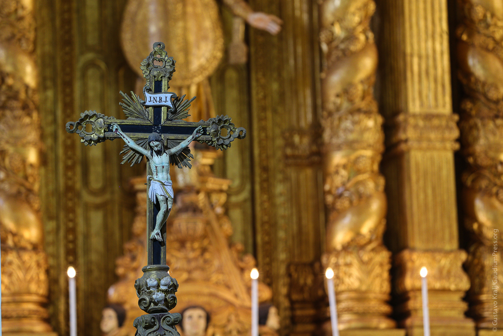 Crucificado - Basilica de Bom Jesus - Goa, India - Foto: Gustavo Kralj/Gaudiumpress