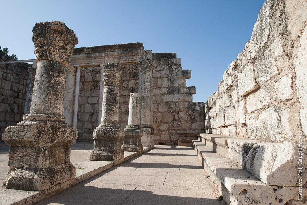Galilea, Tierra Santa: Synagoga de Capernaum. Foto: Gustavo Kralj/Gaudiumpress