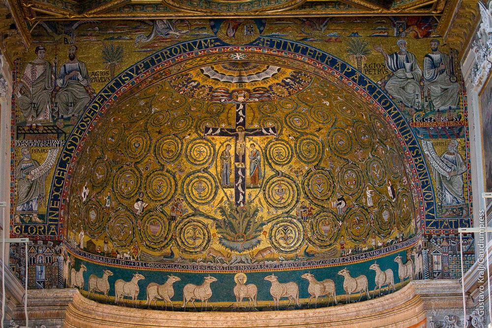 Roma: Mosaicos en la Basílica de San Clemente. Foto: Gustavo Kralj/Gaudiumpress