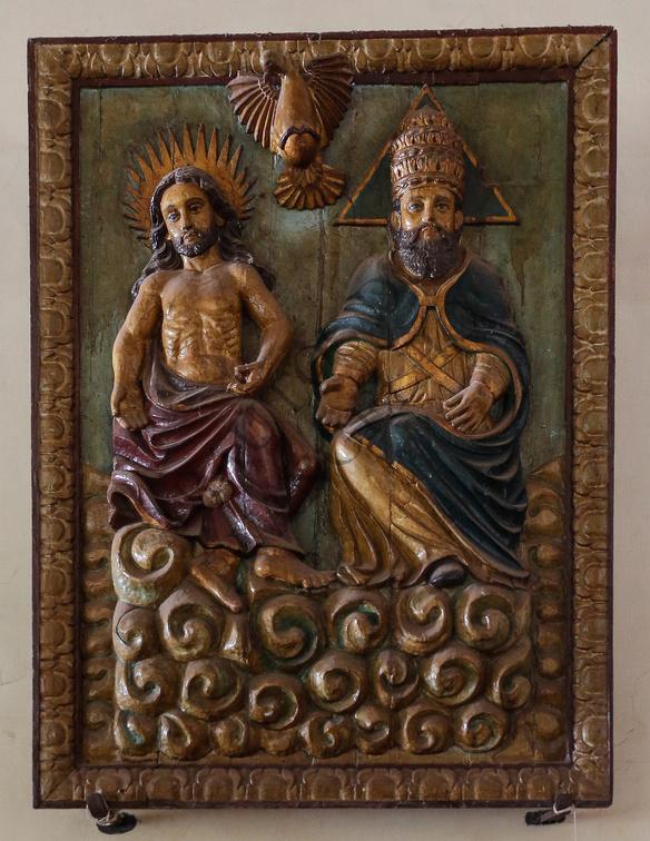 Goa, India: Ssma Trinidad tallada en madera y policromada. FotoL Gustavo Kralj/Gaudiumpress