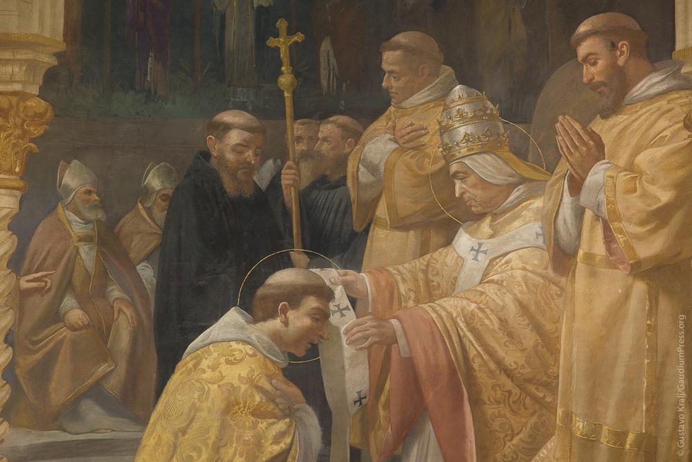 San Gregorio Magno envía apóstoles a Inglaterra. Basilica de San Gioacchino, Roma. Foto: Gustavo Kralj/Gaudiumpress