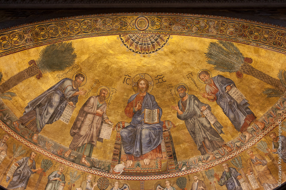 Jesus enseñando, Basílica de San Pablo extramuros. Foto: Gustavo Kralj/Gaudiumpress