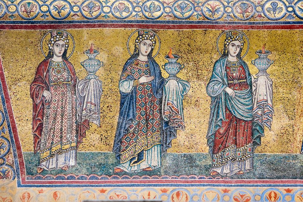 Mosaico de las Virgenes Prudentes- Santa Maria in Trastevere, Roma - Foto: Gustavo Kralj/GaudiumpressImages