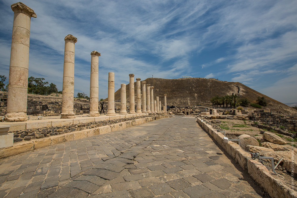 Ruinas de Beth Shean, Capital de la Dec;apolis. Foto: Gustavo Kralj/GaudiumpressImages.com