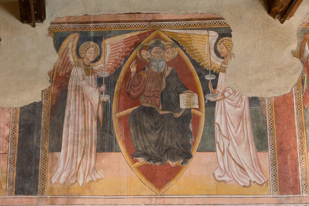 Genazzano, Italia: Fresco de la Ssma Trinidad, S XIII - Foto: Gustavo Kralj/GaudiumpressImages.com