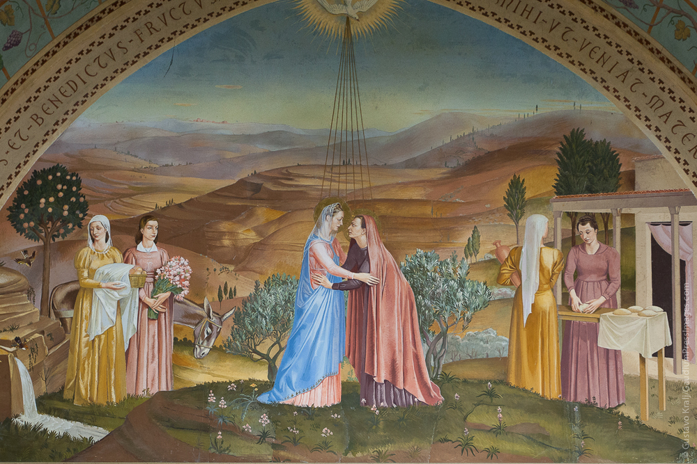 La Visitación. Basilica del Magníficat,Ein Karem, Tierra Santa. Foto: Gustavo Kralj/GaudiumpressImages.com