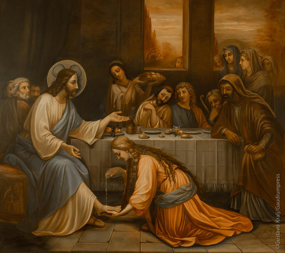 """Tus pecados te son perdonados"". Oleo sobre lienzo, Betania, Tierra Santa. Foto: Gustavo Kralj/GaudiumpressImages.com"
