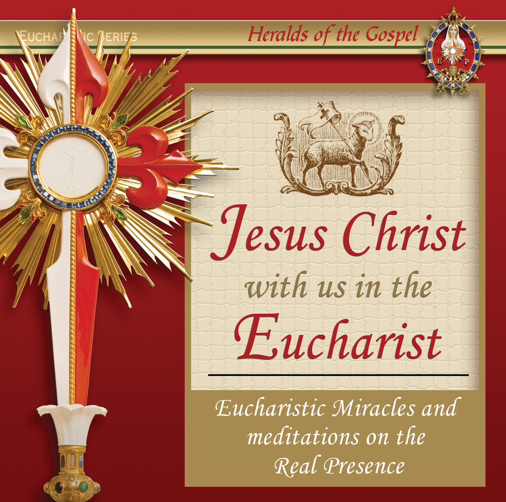 Jesus with us in the Eucharist      $6.95 tax incl.   Jesus with us in the Eucharist  - Learn why Catholics believe in the Real Presence of Jesus in the Eucharist.  Ideal for children and adults alike. Read by Dan Slentz - Download it now!  MP3 format - Includes 15 Tracks